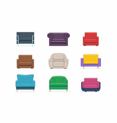 armchairs set vector image vector image