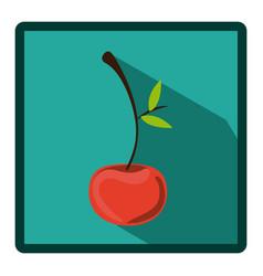 emblem cherry icon image vector image