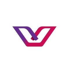 Letter V logo element gradient elegant vector image