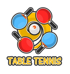 table tennis sport colorful logotype isolated on vector image vector image