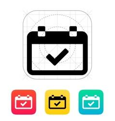 Calendar event day icon vector image vector image