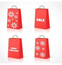 Christmas shopping bsg vector image vector image