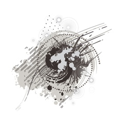 many abstract dots vector image vector image