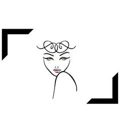 Model shoot- photography logo vector image