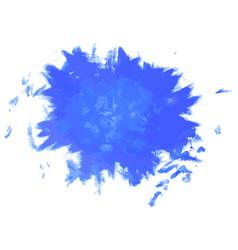 paint ink grunge dirty splash blue vector image vector image