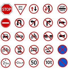 regulatory sign vector image vector image