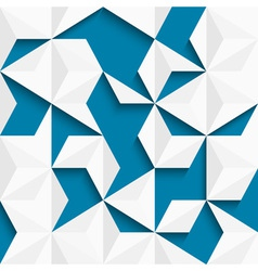 Abstract background of paper triangles vector image vector image
