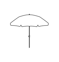 Beach umbrella black color icon vector