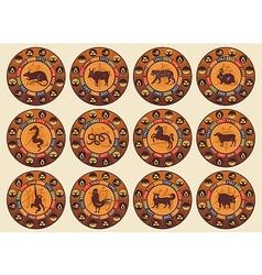 Chinese Zodiac Set vector image