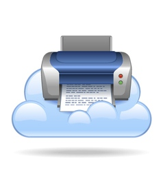 Cloud print vector image vector image
