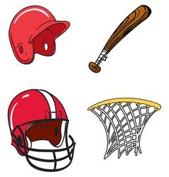 Kids Sports Equipment vector image
