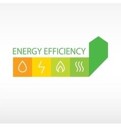 logo energy efficiency vector image