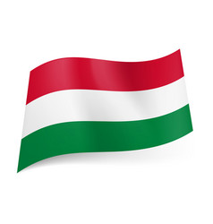 national flag of hungary red white and green vector image