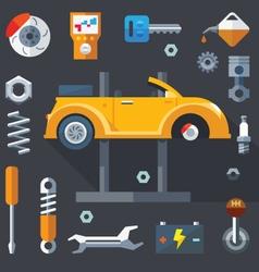 Repair of machines and equipment vector image