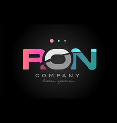 ron r o n three letter logo icon design vector image vector image