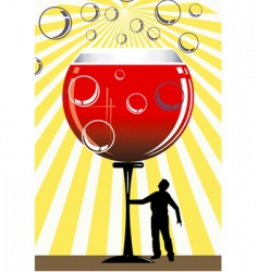 wine and man vector image vector image