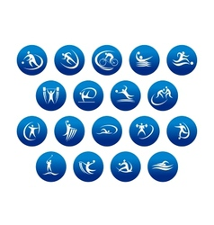 Athletics and team sport icons or symbols vector image vector image