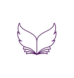 Book with wing-shaped sheets vector