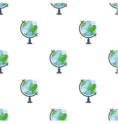 Globe of various languages icon in cartoon style vector