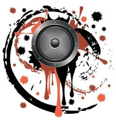 Grunge Audio Speaker vector image vector image
