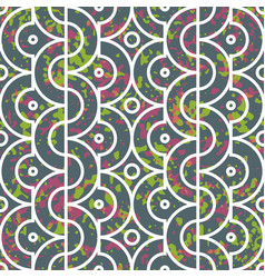 seamless geometric pattern with half circles vector image