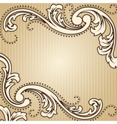 square vintage sepia background vector image vector image
