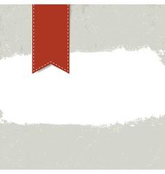 white grunge label on textured dark background vector image