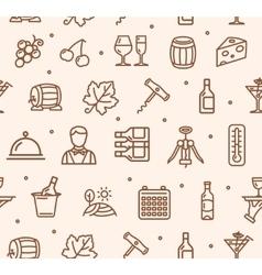 Wine Making Drink Background Pattern vector image vector image