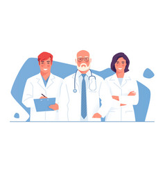 a medical team group of vector image