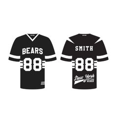 american football uniform t-shirt design vector image