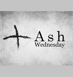 ash wednesday background vector image