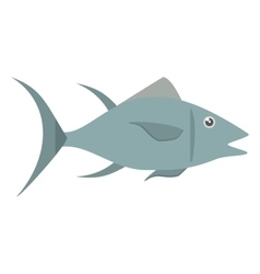 Atun fish sealife food vector