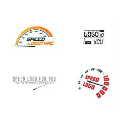 Automative logo set speed car hud design element vector
