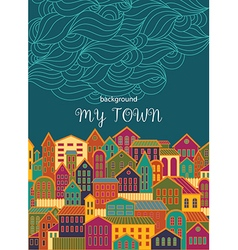 Background with Colorful Town vector image