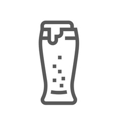 beer drink and beverage line icon vector image