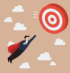 Businessman Super Hero Fly to Big Target vector