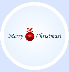 Card Christmas with caption vector image