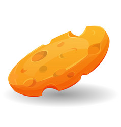 Cartoon piece of cheese vector
