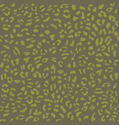 cat seamless pattern green animal vector image