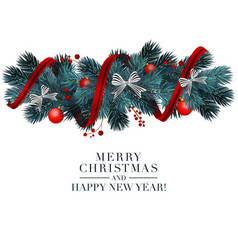 Christmas 2019 greeting card with holiday 3d vector