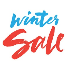 Clearance Hand lettering Winter sale vector image