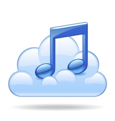 Cloud music vector image vector image