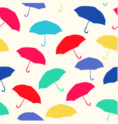 Colorful umbrellas repeat pattern vector