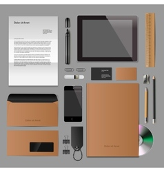 Corporate identity mock-up classic style vector