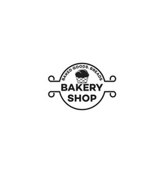 cup cake bakery logo vector image