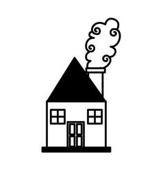 Cute house drawing icon vector