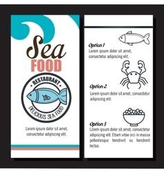 delicious sea food isolated icon design vector image