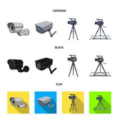 Design camcorder and camera symbol vector