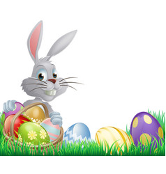 easter eggs bunny vector image