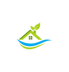 eco green house logo vector image